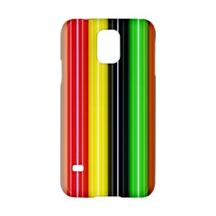 Stripes Colorful Striped Background Wallpaper Pattern Samsung Galaxy S5 Hardshell Case