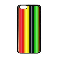Stripes Colorful Striped Background Wallpaper Pattern Apple Iphone 6/6s Black Enamel Case by Simbadda