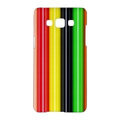 Stripes Colorful Striped Background Wallpaper Pattern Samsung Galaxy A5 Hardshell Case  by Simbadda