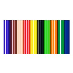 Stripes Colorful Striped Background Wallpaper Pattern Satin Shawl by Simbadda