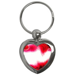 Abstract Pink Page Border Key Chains (heart)