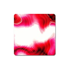 Abstract Pink Page Border Square Magnet