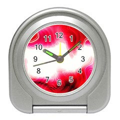 Abstract Pink Page Border Travel Alarm Clocks by Simbadda