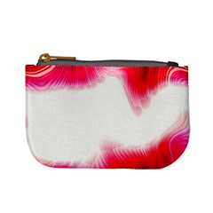Abstract Pink Page Border Mini Coin Purses