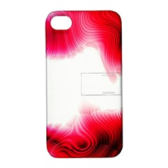 Abstract Pink Page Border Apple Iphone 4/4s Hardshell Case With Stand by Simbadda