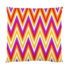 Colorful Chevrons Zigzag Pattern Seamless Standard Cushion Case (two Sides) by Simbadda