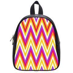 Colorful Chevrons Zigzag Pattern Seamless School Bags (small)  by Simbadda