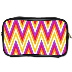 Colorful Chevrons Zigzag Pattern Seamless Toiletries Bags 2 Side by Simbadda