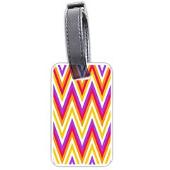 Colorful Chevrons Zigzag Pattern Seamless Luggage Tags (one Side)  by Simbadda
