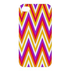 Colorful Chevrons Zigzag Pattern Seamless Apple Iphone 4/4s Premium Hardshell Case by Simbadda