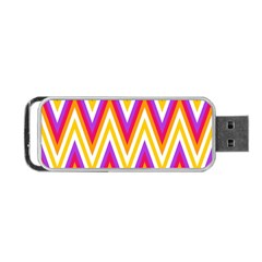 Colorful Chevrons Zigzag Pattern Seamless Portable Usb Flash (one Side) by Simbadda