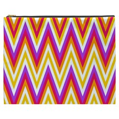 Colorful Chevrons Zigzag Pattern Seamless Cosmetic Bag (xxxl)  by Simbadda