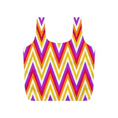 Colorful Chevrons Zigzag Pattern Seamless Full Print Recycle Bags (s)  by Simbadda