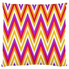 Colorful Chevrons Zigzag Pattern Seamless Large Flano Cushion Case (two Sides)