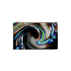 Twirl Liquid Crystal Cosmetic Bag (small)  by Simbadda