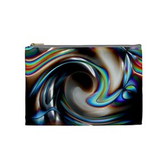 Twirl Liquid Crystal Cosmetic Bag (medium)  by Simbadda