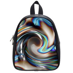 Twirl Liquid Crystal School Bags (small)  by Simbadda
