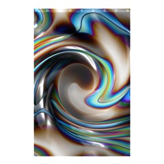 Twirl Liquid Crystal Shower Curtain 48  X 72  (small)  by Simbadda