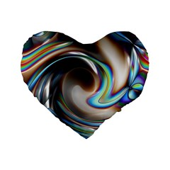 Twirl Liquid Crystal Standard 16  Premium Heart Shape Cushions by Simbadda
