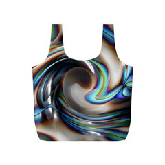 Twirl Liquid Crystal Full Print Recycle Bags (s)  by Simbadda