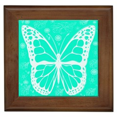 Butterfly Cut Out Flowers Framed Tiles by Simbadda
