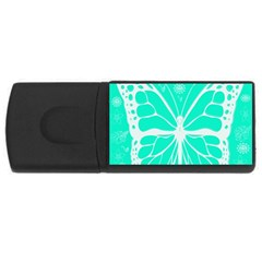 Butterfly Cut Out Flowers Usb Flash Drive Rectangular (4 Gb) by Simbadda