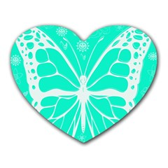Butterfly Cut Out Flowers Heart Mousepads by Simbadda