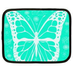 Butterfly Cut Out Flowers Netbook Case (xl)