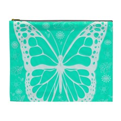 Butterfly Cut Out Flowers Cosmetic Bag (xl) by Simbadda