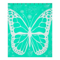 Butterfly Cut Out Flowers Shower Curtain 60  X 72  (medium)  by Simbadda