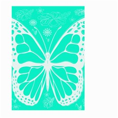 Butterfly Cut Out Flowers Large Garden Flag (two Sides) by Simbadda