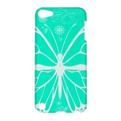 Butterfly Cut Out Flowers Apple Ipod Touch 5 Hardshell Case by Simbadda