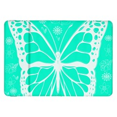 Butterfly Cut Out Flowers Samsung Galaxy Tab 8 9  P7300 Flip Case by Simbadda