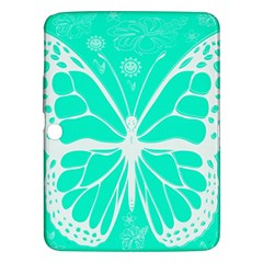 Butterfly Cut Out Flowers Samsung Galaxy Tab 3 (10 1 ) P5200 Hardshell Case  by Simbadda