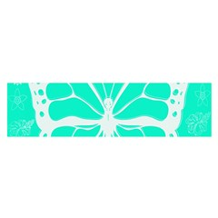 Butterfly Cut Out Flowers Satin Scarf (oblong)