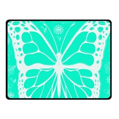 Butterfly Cut Out Flowers Fleece Blanket (small) by Simbadda
