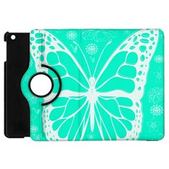 Butterfly Cut Out Flowers Apple Ipad Mini Flip 360 Case by Simbadda