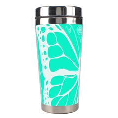Butterfly Cut Out Flowers Stainless Steel Travel Tumblers by Simbadda
