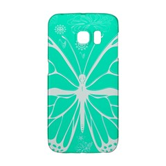 Butterfly Cut Out Flowers Galaxy S6 Edge by Simbadda