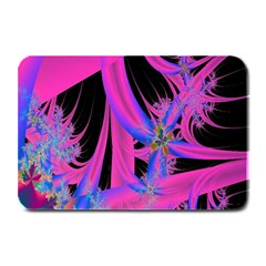 Fractal In Bright Pink And Blue Plate Mats by Simbadda