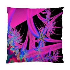 Fractal In Bright Pink And Blue Standard Cushion Case (two Sides) by Simbadda