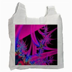 Fractal In Bright Pink And Blue Recycle Bag (two Side)  by Simbadda