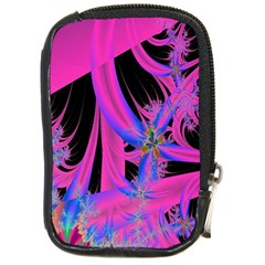 Fractal In Bright Pink And Blue Compact Camera Cases by Simbadda