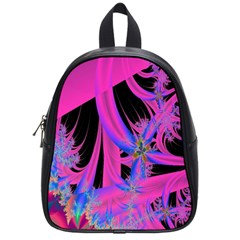Fractal In Bright Pink And Blue School Bags (small)  by Simbadda