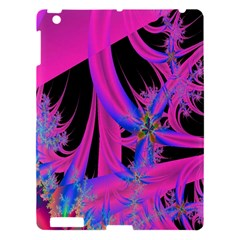 Fractal In Bright Pink And Blue Apple Ipad 3/4 Hardshell Case by Simbadda