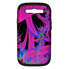 Fractal In Bright Pink And Blue Samsung Galaxy S Iii Hardshell Case (pc+silicone) by Simbadda