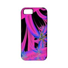 Fractal In Bright Pink And Blue Apple Iphone 5 Classic Hardshell Case (pc+silicone)