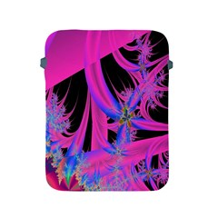 Fractal In Bright Pink And Blue Apple Ipad 2/3/4 Protective Soft Cases by Simbadda