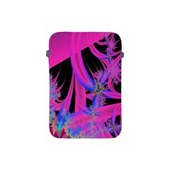 Fractal In Bright Pink And Blue Apple Ipad Mini Protective Soft Cases by Simbadda