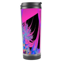 Fractal In Bright Pink And Blue Travel Tumbler by Simbadda